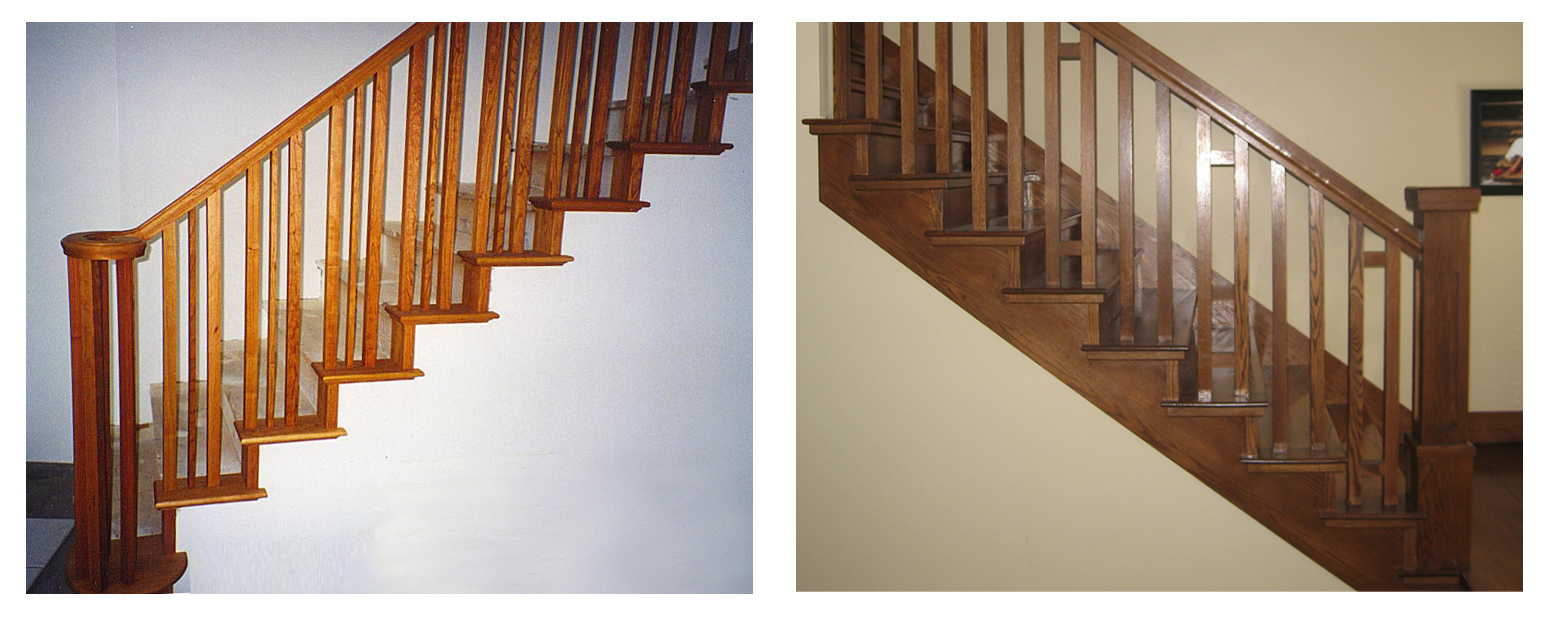Superieur With And Without Skirt Board. Stairway ...