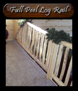 aspen log railing