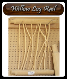 skip peel log railing