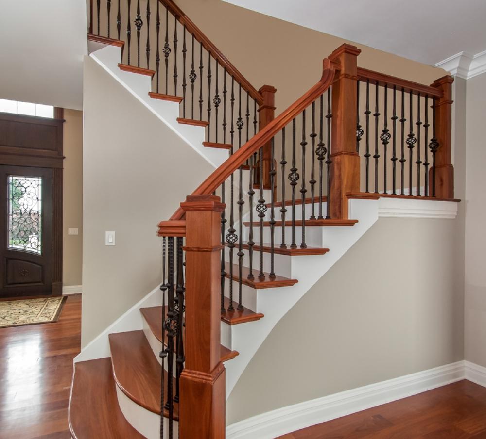 Beautiful Interior Staircase Ideas And Newel Post Designs: 4091 Standard Box Newel Wood Stairs Box Newel 4091 Newel