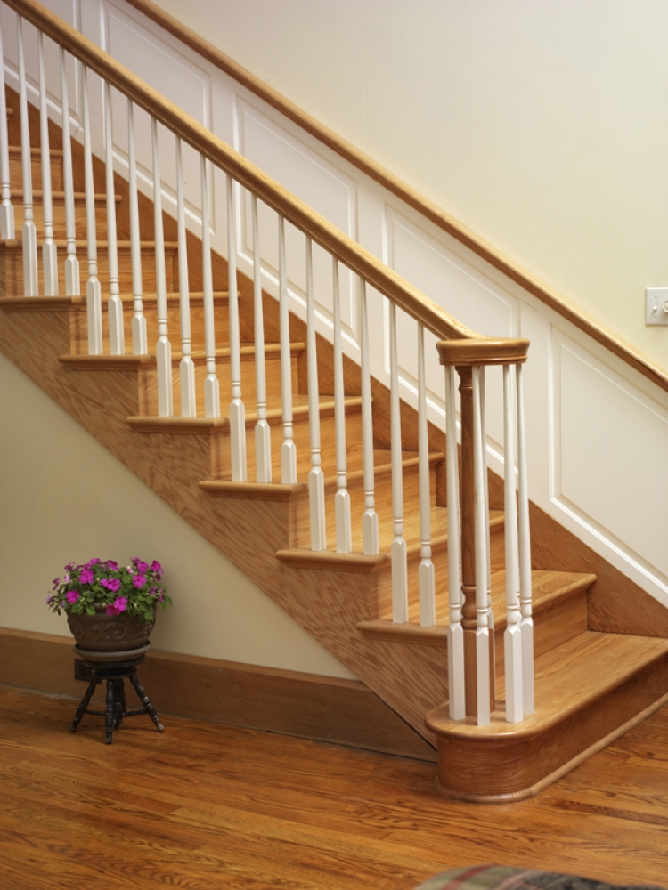 wood handrails for stairs | 6010 Handrail - Wood Stair Hand Railing LJ-6010 Profile