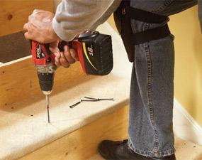 how to fix a squeaky stair step
