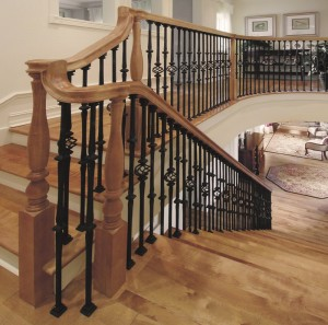 Wrought Iron Railings Wood Stairs
