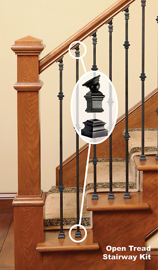 Replace Wood Balusters With Iron Balusters Wood Stairs