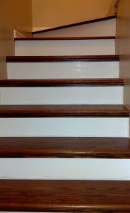 Example Of Stained Red Oak Stairs