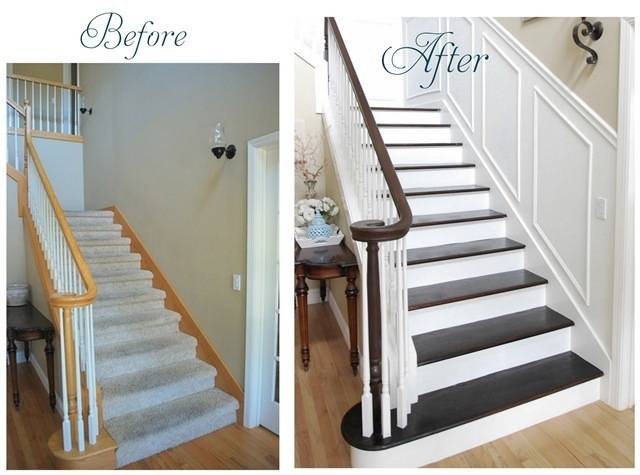 Superb Another Method Of Changing The Appearance Is To Simply Restain And/or Paint  Your Balustrade. For Example If You Have A Golden Brown Red Oak Balustrade  You ...