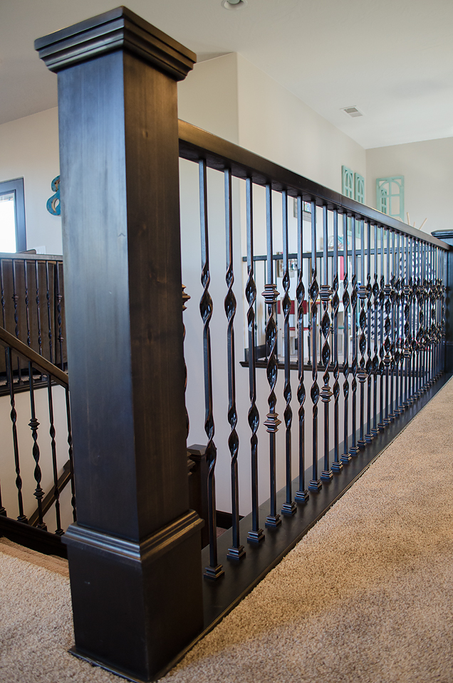 How To Add Wood Handrail To Iron Balustrade Add Wood To