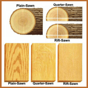 Quartersawn Plain Sawn Rift Sawn