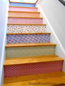 decorate stair riser