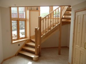 ash wood stairs