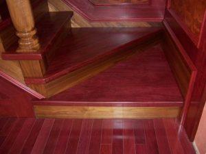 purpleheart wood stairs