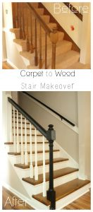 wood stair makeover