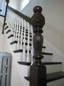 turned newel posts