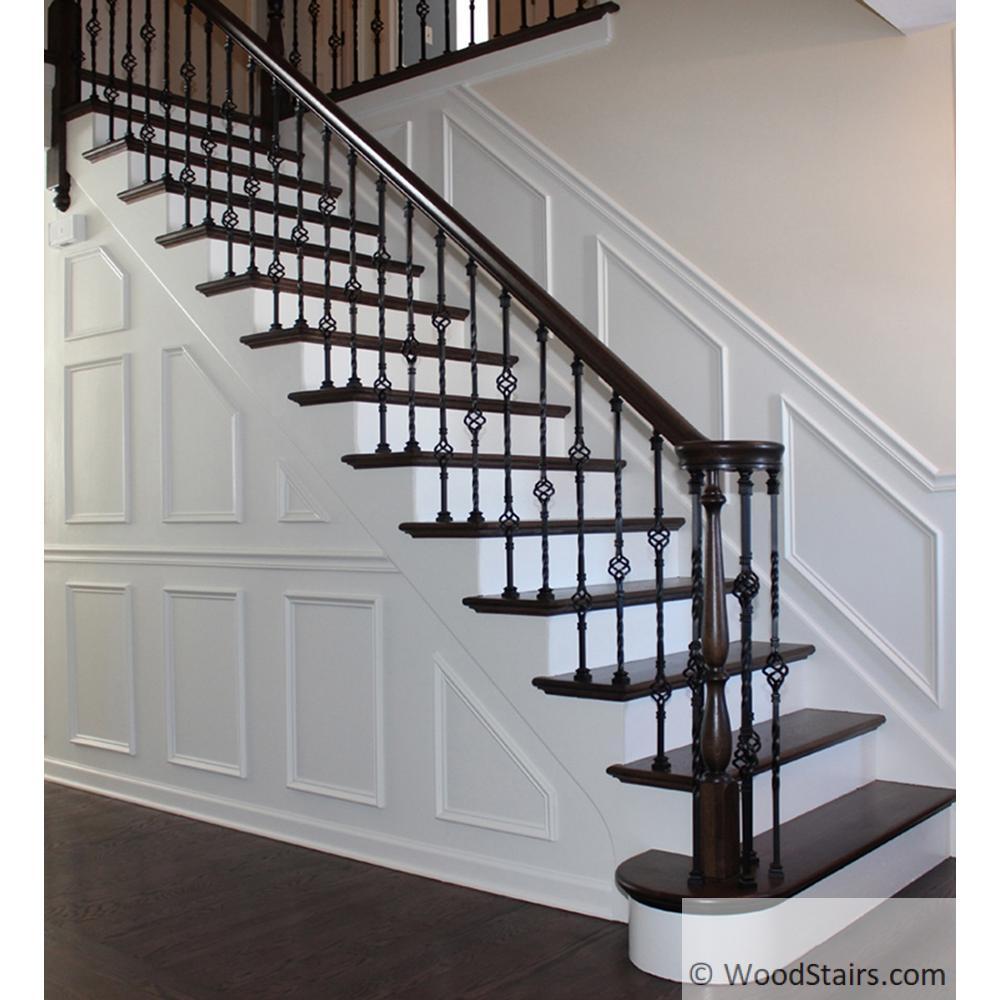 Left Hand Volute Stair Fitting Lj 7x30 Handrail Fitting