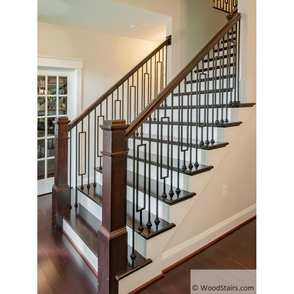 LIH-HOLPLA44 Plain Bar Baluster Wood Stair Hollow Iron ...