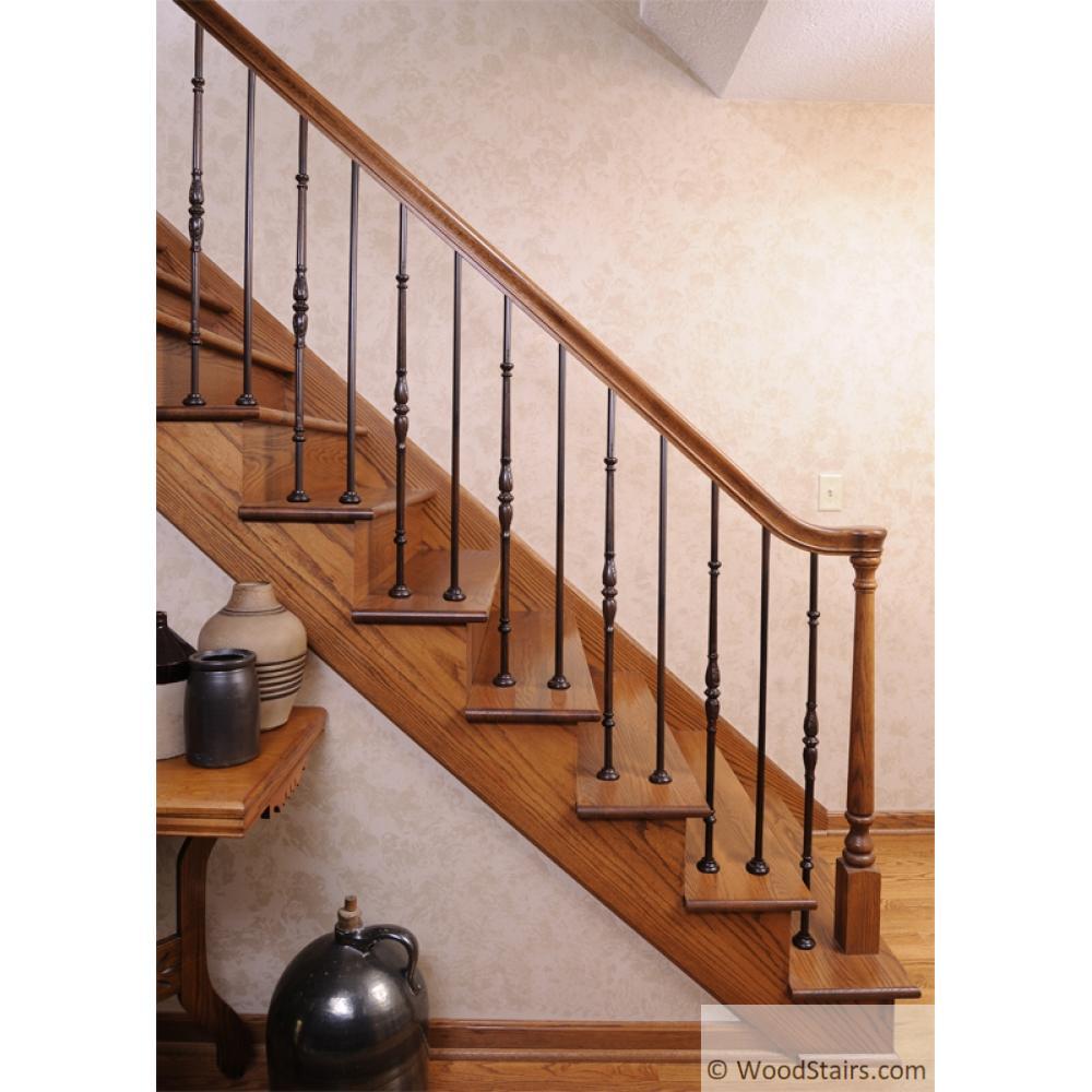 LIH-HOL65144 Plain Bar Baluster Wood Stair Hollow Iron