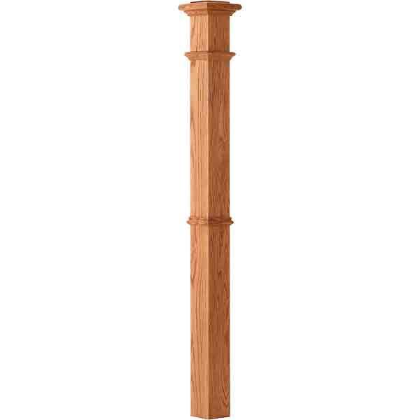 Plain panel box newel wood stair newels